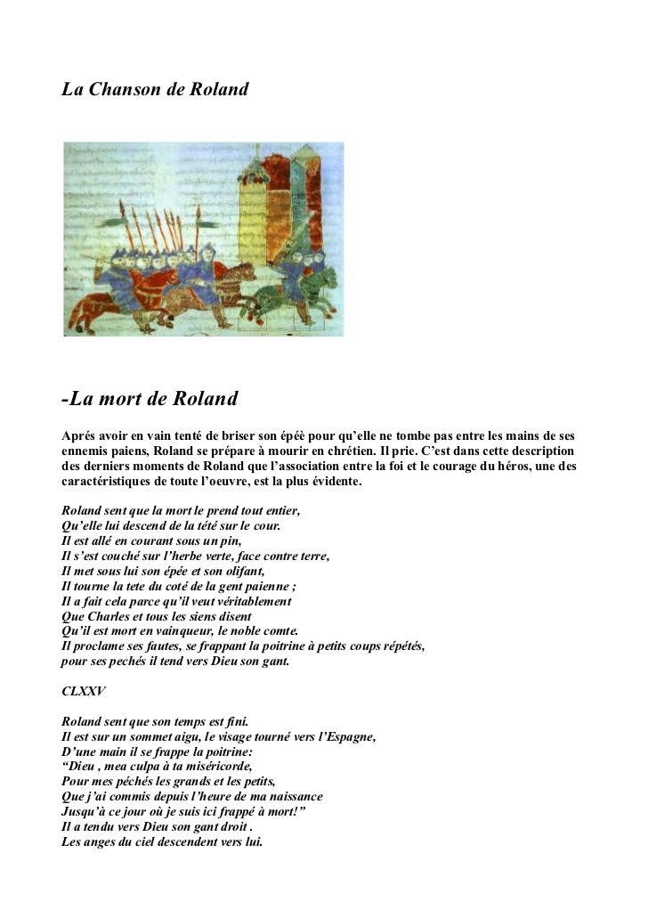 La Chanson de Roland-La mort de RolandAprés avoir en vain tenté de briser son épéè pour qu'elle ne tombe pas entre les mai...