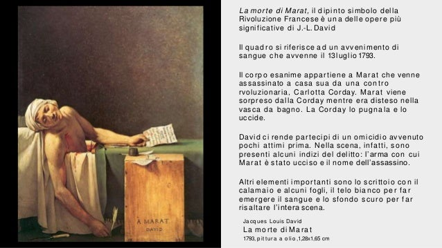 La Morte Di Marat Il Neoclassicismo