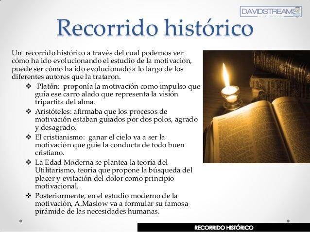 Recorrido histórico Un recorrido histórico a través del cual podemos ver cómo ha ido evolucionando el estudio de la motiva...