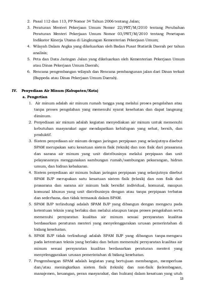 2. Pasal 112 dan 113, PP Nomor 34 Tahun 2006 tentang Jalan;  3. Peraturan Menteri Pekerjaan Umum Nomor 22/PRT/M/2010 tenta...