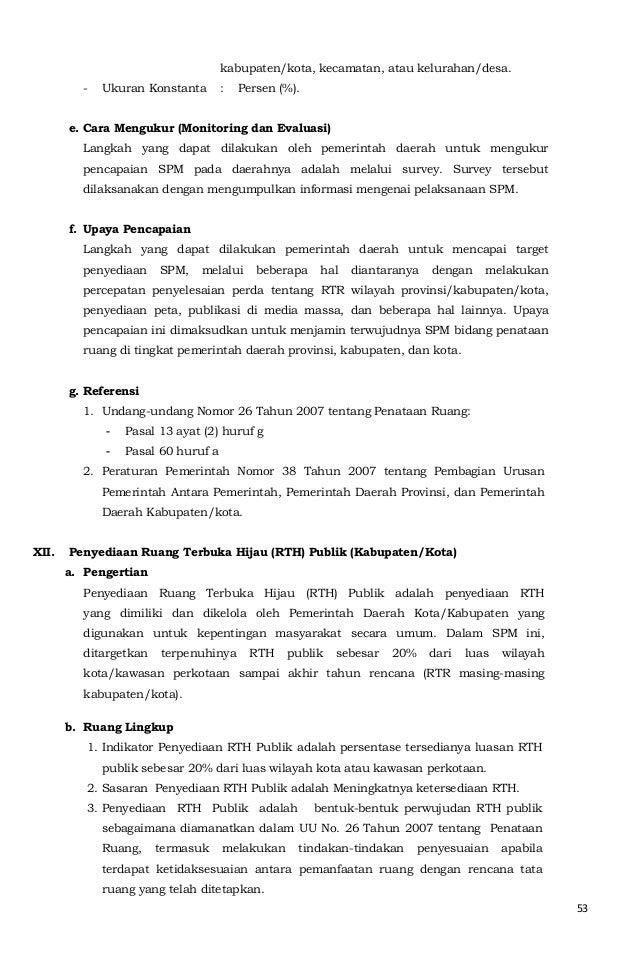 53  kabupaten/kota, kecamatan, atau kelurahan/desa.  - Ukuran Konstanta : Persen (%).  e. Cara Mengukur (Monitoring dan Ev...