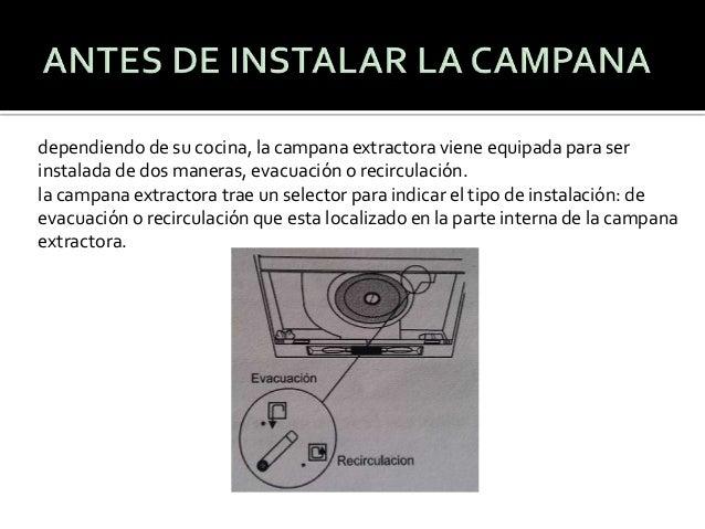 Lampara extractora - Como colocar una campana extractora ...