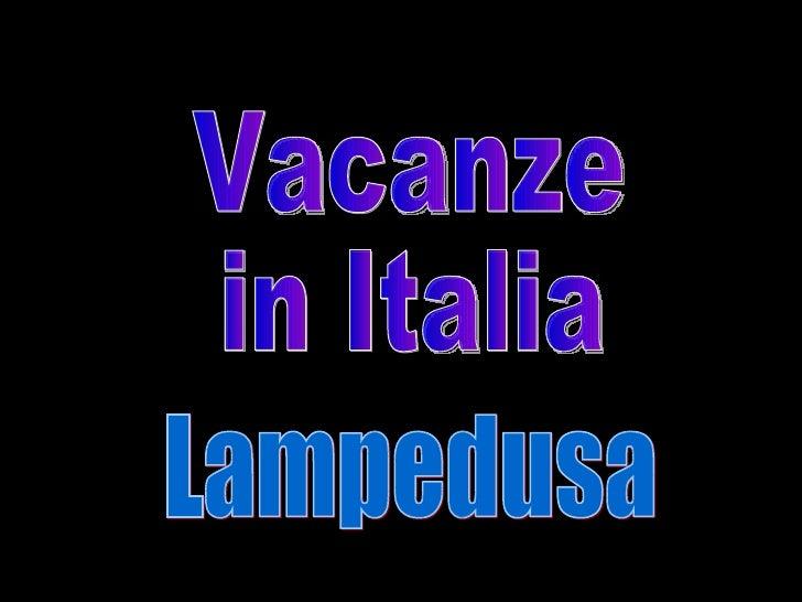 Vacanze in Italia Lampedusa