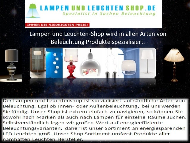 lampen und leuchten shop. Black Bedroom Furniture Sets. Home Design Ideas