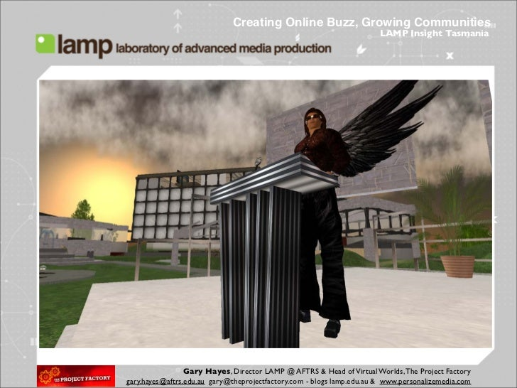 Creating Online Buzz, Growing Communities                                                                        LAMP Insi...