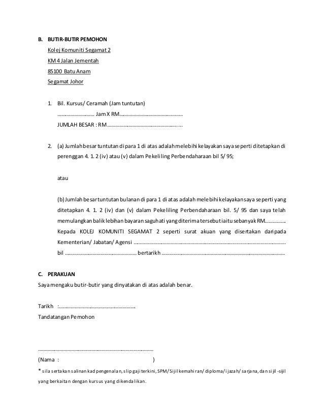 Contoh Surat Rasmi Permohonan Tuntutan Insurans Surat R