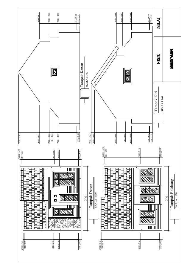 Gambar Kerja Rumah Minimalis 1 Lantai Lomba Autocad Skills Competitio