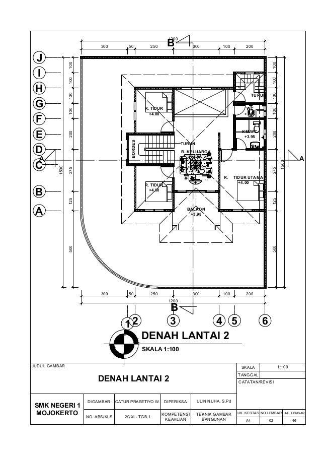 Desain Rumah 2 Lantai Dwg  gambar kerja rumah 2 lantai gambar arsitektural mekanikal