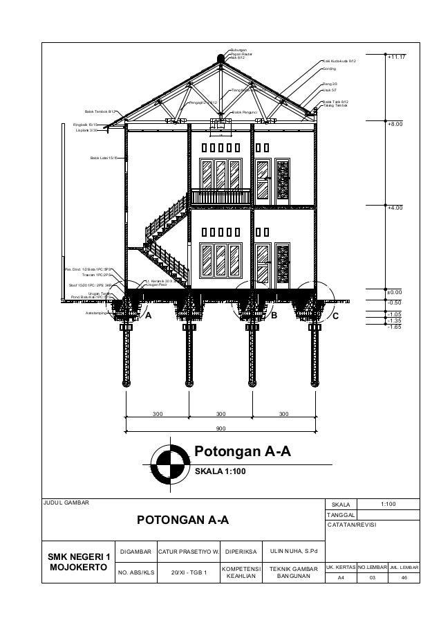 Contoh Denah Rumah Kantor  gambar kerja rumah 2 lantai gambar arsitektural mekanikal
