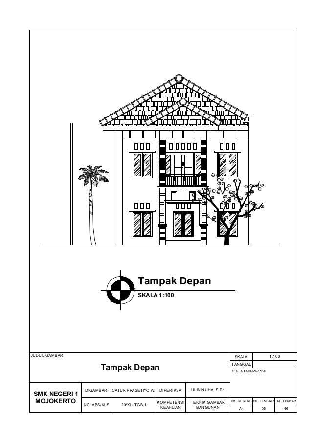 Rumah gambar pdf kerja 2 lantai