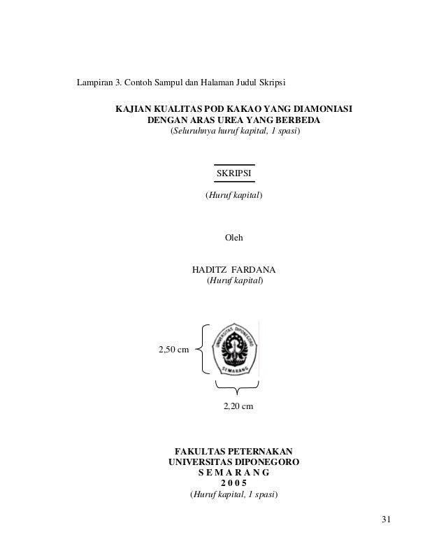 Contoh Lampiran Karya Ilmiah Mahasiswa Peternakan UNDIP