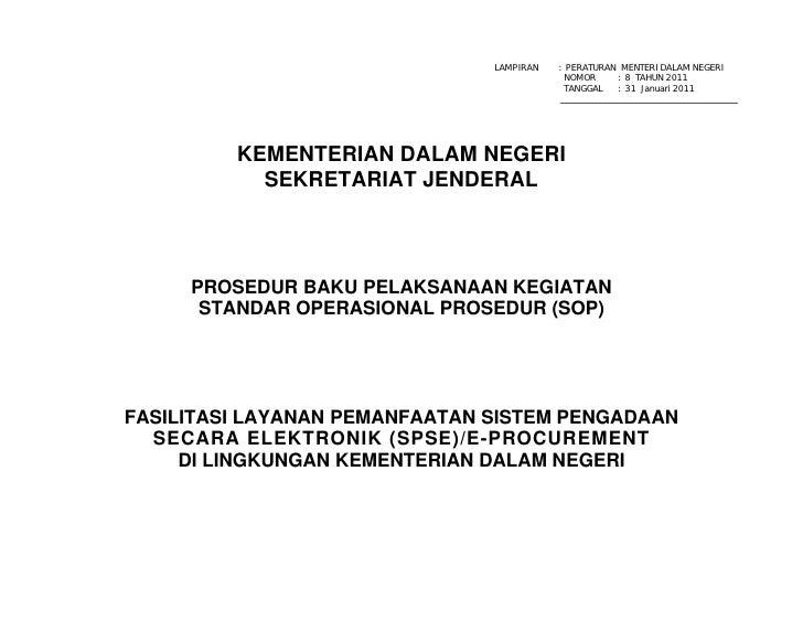 LAMPIRAN   : PERATURAN MENTERI DALAM NEGERI                                            NOMOR    : 8 TAHUN 2011            ...