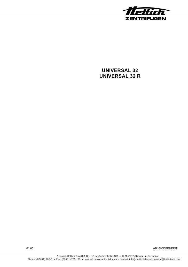 UNIVERSAL 32                                                             UNIVERSAL 32 R     01.05                         ...