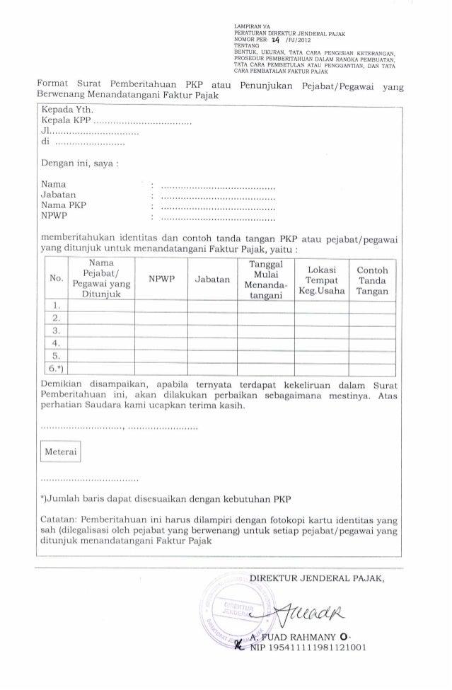 Surat Pemberitahuan Pkplampiran Va Per24pj2012