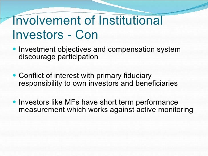 Dissertation on role of institutional investors