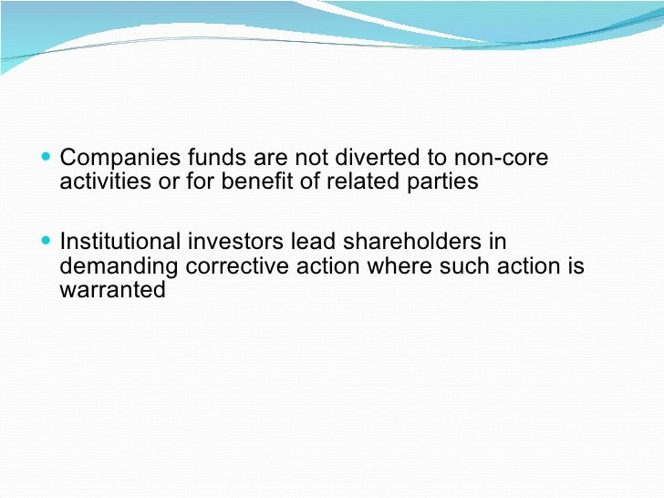 emphasising the role that institutional shareholders As mentioned above, the importance of institutional investor  given the rising  emphasis governments, the media and the public have placed.