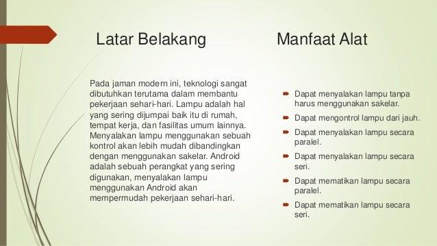 Lampu otomatis berbasis bluetooth dan android