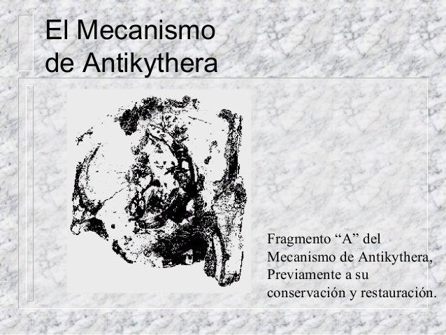 """Fragmento """"A"""" del Mecanismo de Antikythera, Previamente a su conservación y restauración. El Mecanismo de Antikythera"""