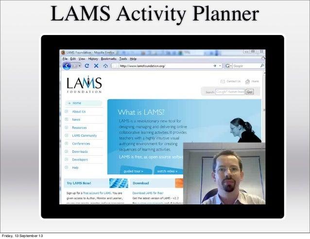 LAMS Activity Planner Friday, 13 September 13