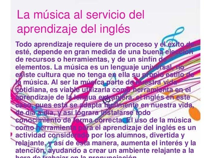 La m sica al servicio del aprendizaje del ingl s for Cancion jardin de rosas en ingles