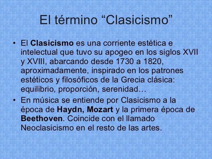 La MúSica Del Clasicismo Slide 2