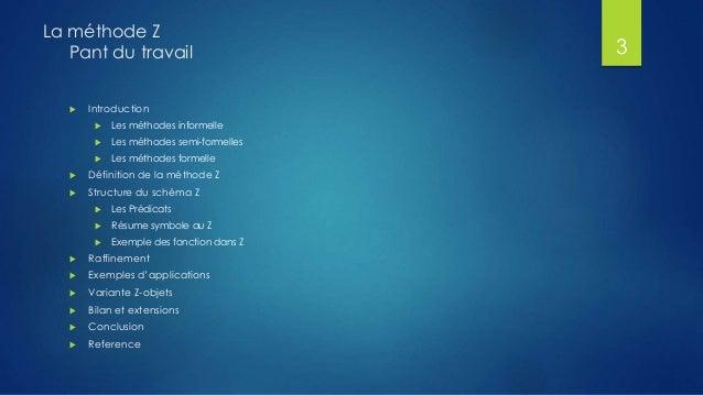 La méthode z Slide 3
