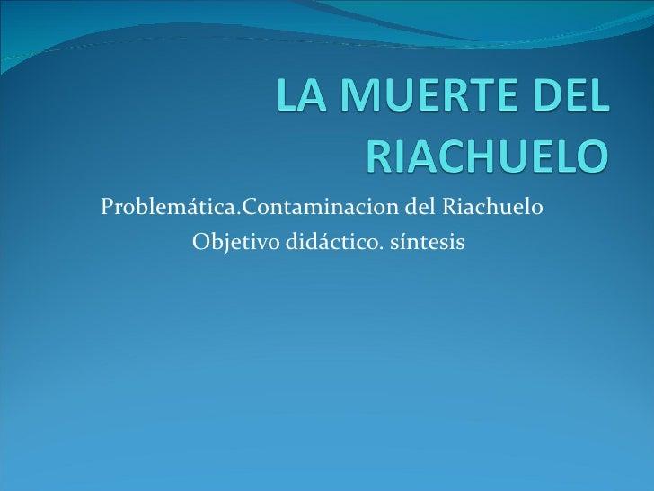 Problemática.Contaminacion del Riachuelo  Objetivo didáctico. síntesis