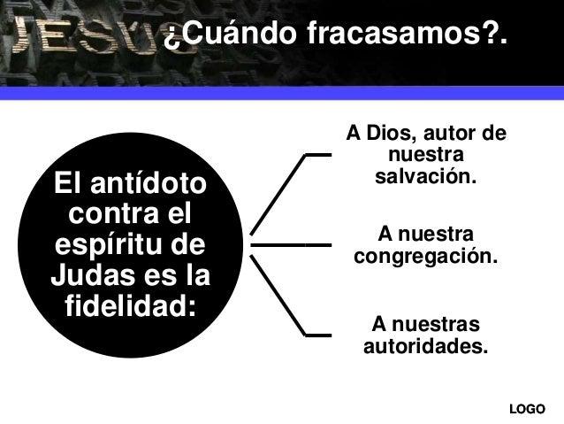 LOGOLOGO El antídoto contra el espíritu de Judas es la fidelidad: A Dios, autor de nuestra salvación. A nuestra congregaci...