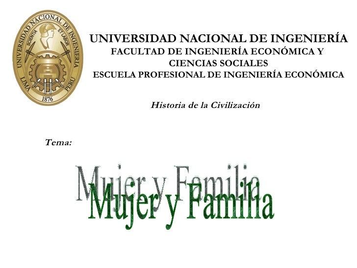 UNIVERSIDAD NACIONAL DE INGENIERÍA FACULTAD DE INGENIERÍA ECONÓMICA Y  CIENCIAS SOCIALES ESCUELA PROFESIONAL DE INGENIERÍA...