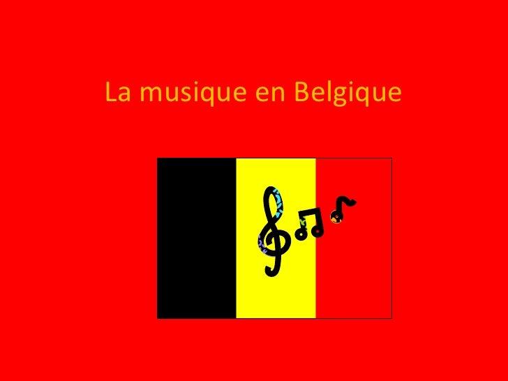 La musique en Belgique