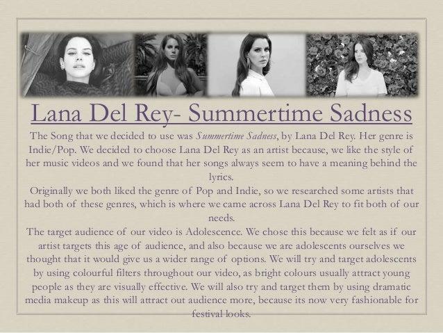 Summertime Sadness Lana Del Rey Presentation