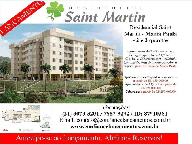 Lançamento em maria paula niteroi são gonçalo lançamento maria paula niteroi saint martin  apartamentos maria paula nitero...