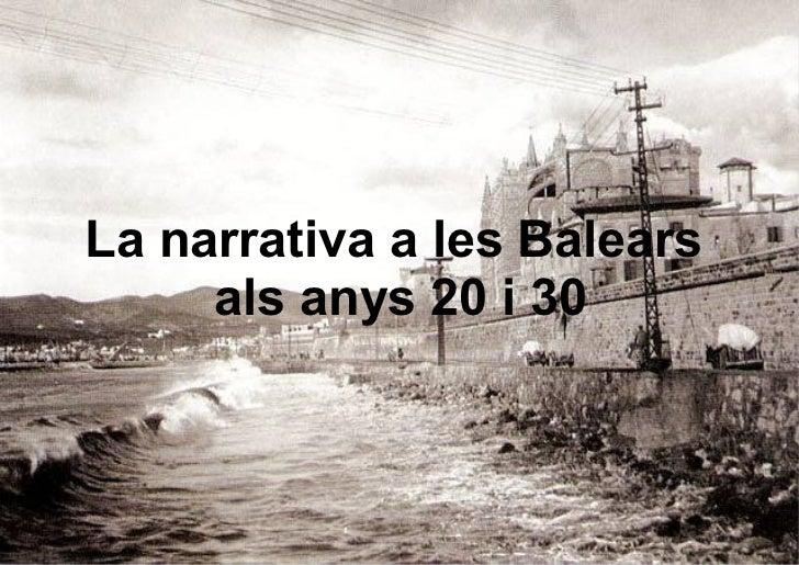 La narrativa a les Balears     als anys 20 i 30