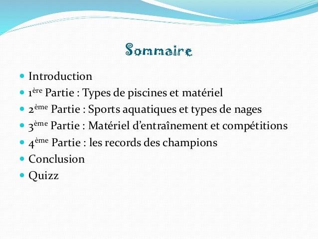 La natation  Slide 2