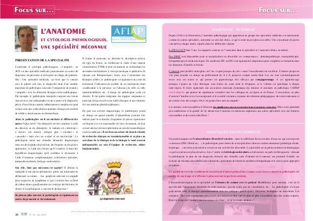 L 39 anatomie et cytologie pathologiques une sp cialit - Cabinet d anatomie et cytologie pathologiques ...