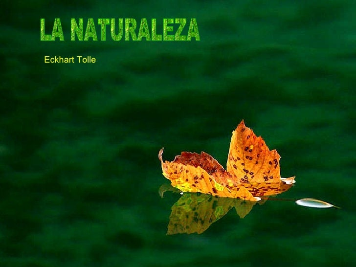 LA NATURALEZA  Eckhart Tolle