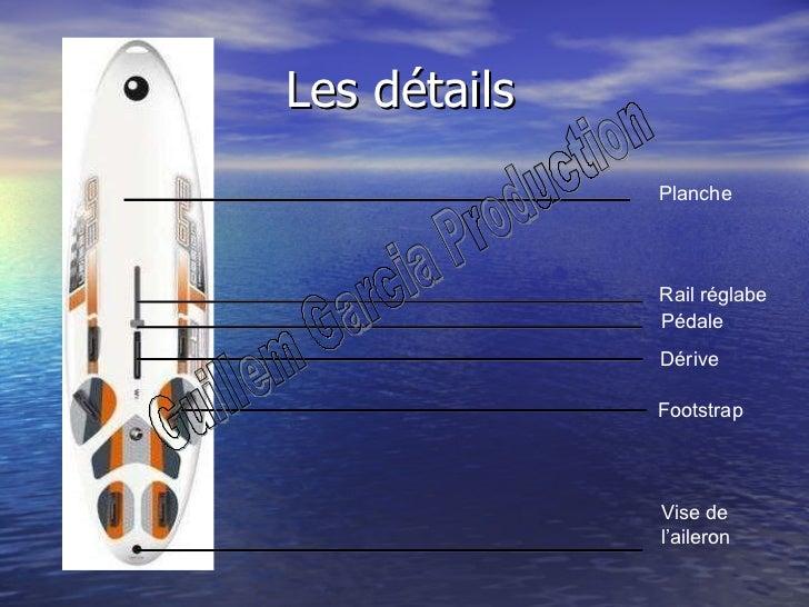 Les détails Rail réglabe Pédale Dérive Footstrap Vise de  l'aileron Planche Guillem Garcia Production