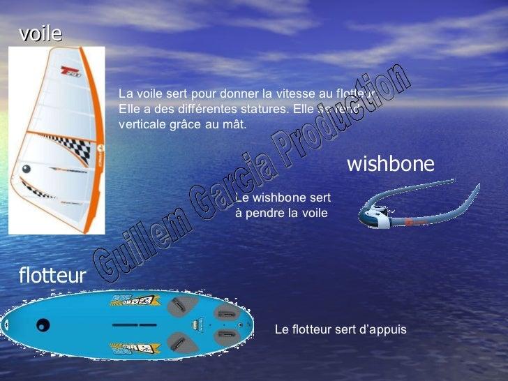 voile wishbone flotteur La voile sert pour donner la vitesse au flotteur. Elle a des différentes statures. Elle se rend ve...