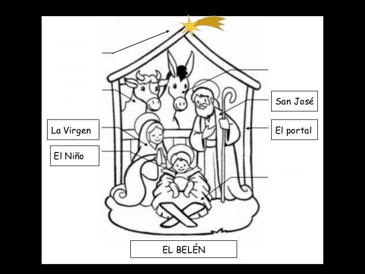 La Virgen El Niño San José El portal EL BELÉN