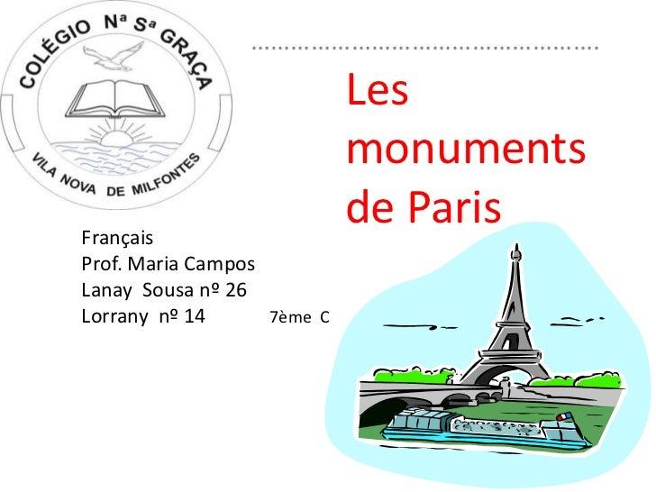 …………………………………………….                            Les                            monumentsFrançais                            ...