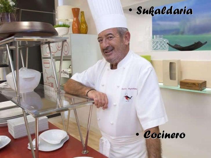 <ul><li>Sukaldaria </li></ul><ul><li>Cocinero </li></ul>