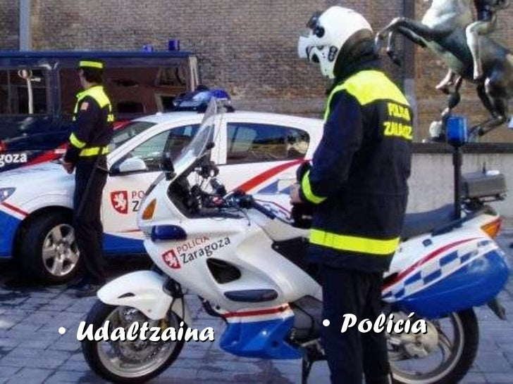 <ul><li>Udaltzaina </li></ul><ul><li>Policía </li></ul>