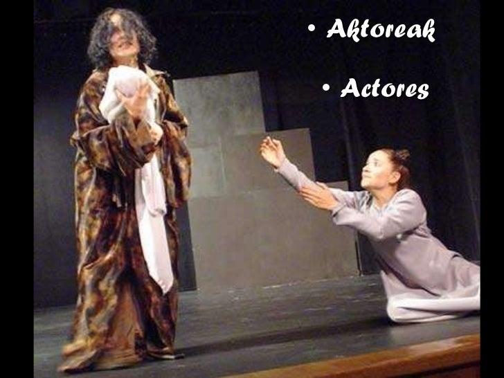 <ul><li>Aktoreak </li></ul><ul><li>Actores </li></ul>