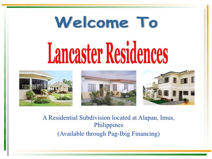 A Residential Subdivision located at Alapan, Imus, Philippines Available through Pag-Ibig Financing or in Cash Ready for O...