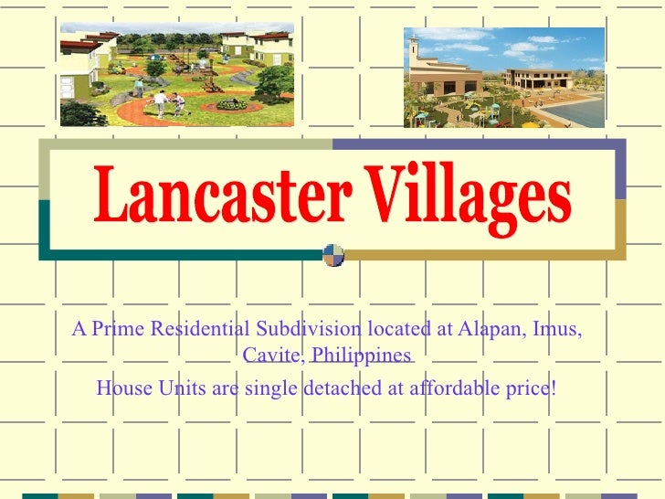 A Prime Residential Subdivision with linear park at the back of the house Located at Alapan, Imus, Cavite, Philippines Hou...