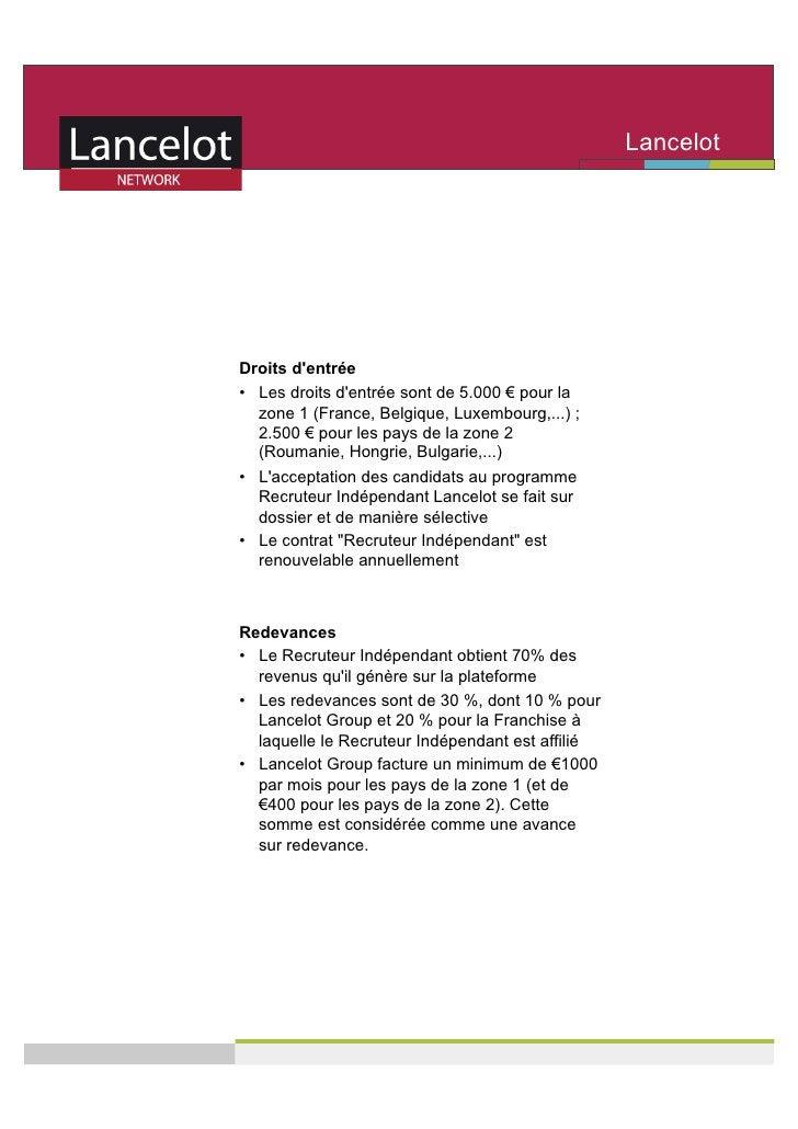 Lancelot                                                    Network     Droits d'entrée • Les droits d'entrée sont de 5.0...