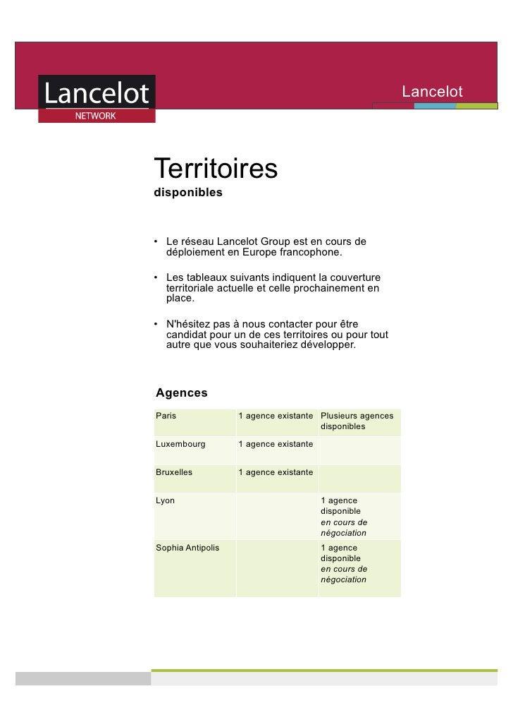Lancelot                                                           Network   Territoires disponibles   • Le réseau Lancel...