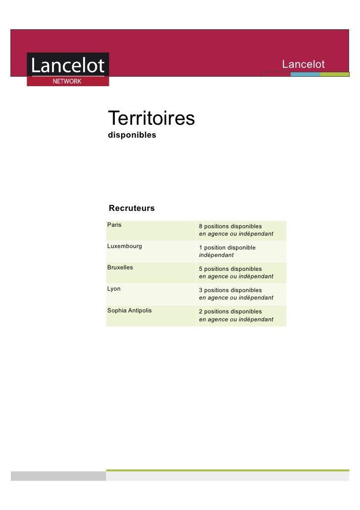 Lancelot                                               Network   Territoires disponibles     Recruteurs Paris             ...