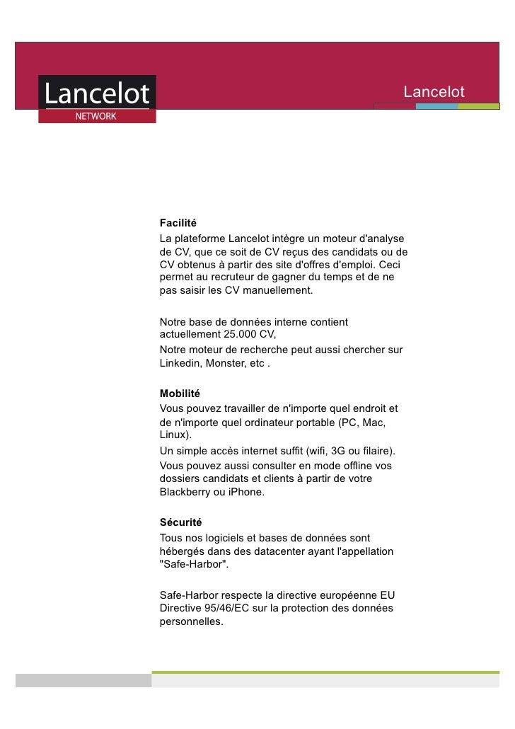 Lancelot                                                          Network     Facilité La plateforme Lancelot intègre un m...