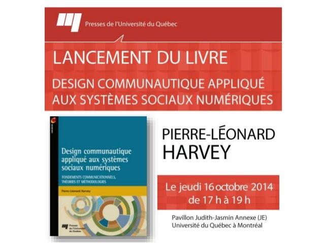 Lancement du livre  Design communautique appliqué aux systèmes sociaux  numériques  Fondements communicationnels, théories...